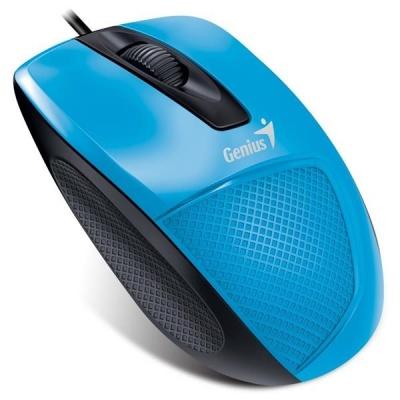 GENIUS myš DX-150X, drátová, 1000 dpi, USB, modrá