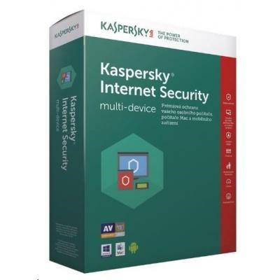 Kaspersky Internet Security 2019 CZ multi-device, 4 zařízení, 2 roky, nová licence, elektronicky